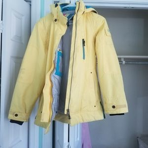 Yellow thick jacket